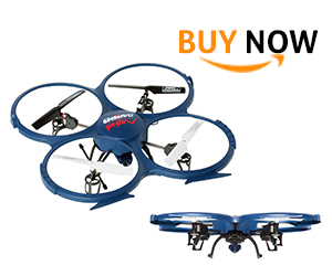 UDI U818A WiFi FPV Drone with Live Camera Feed - RC Quadcopter Drone with HD Camera and VR Headset Compatibility